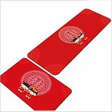2 Stücke Rot Spülbecken Vorne Teppiche