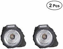 2 Stücke Solarbetriebene LED-Licht Solar
