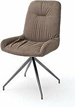 2 Stühle Birga Stuhl, 4-Fuß-Stuhl, Essstuhl, Lehnstuhl, cappuccino