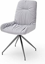 2 Stühle Birga , Stuhl, 4-Fuß-Stuhl, Essstuhl, Lehnstuhl, Esszimmerstühle grau