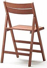 2Stühle faltbar Stuhl Bierzeltgarnitur aus Holz lackiert verschiedene Farben zusammenklappbar für Camping Haus und Garten walnuss