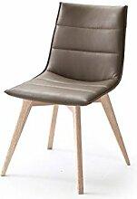 2 Stühle, Stuhl, 4-Fuß-Stuhl, Essstuhl, ALESSIA, Esszimmerstühle, Trüffel, Eiche gekälk