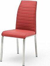 2 Stühle, Stuhl, 4-Fuß-Stuhl, Metallstuhl, FLORES-A, Lehnstuhl, Esszimmerstühle, Ro