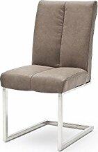 2 Stühle, Stuhl, Schwinger, Schwingstuhl, KUBANOS-A, Freischwinger, Taupe