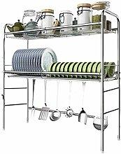 2-stufiges Geschirrtrockner über dem Waschbecken