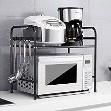 2-stufiges Küchenregal mit Mikrowellen-Ständer