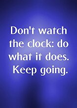 """2 t Don'Uhr die clock_tun, was sie Does. Keep Going motivierendem Spruch """"Life"""" Belive Bestimmung Best Color Bilderrahmen für DIN A3, Poster-Prin"""