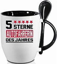 2 Tassen AUTOFAHRERIN + WM Pott. Schwarzer Becher und Fussballtasse. Siehe auch Produktbild 2.