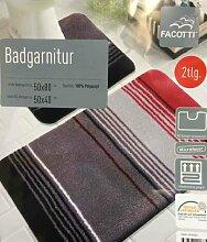 2-teilige Badgarnitur 50x80 cm 50x40