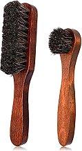 2-teiliges Polierpinsel, Rosshaar, Reinigung von