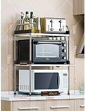 2-Tier 304 Edelstahl Küche Mikrowelle Ständer