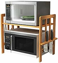 2 Tier Bambus Mikrowelle Ofen Rack Küchenschrank