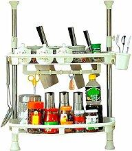 2-Tier Küche Lagerregal Schrank Lagerung Gewürz