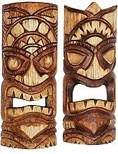 2 Tiki Masken 30cm Wandmaske Tiki Maske Hawaii