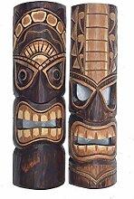 2 Tiki Masken 50cm im Hawaii Style 2er Set