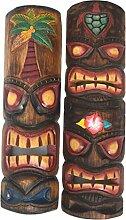 2 Tiki Masken 50cm Wandmaske Tiki Maske Hawaii