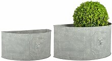 2-tlg. Blumentopf-Set Zampa aus Metall Brambly