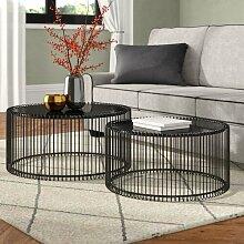 2-tlg. Couchtisch-Set Wire KARE Design Farbe: