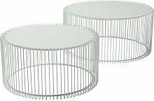 2-tlg. Couchtisch-Set Wire KARE Design Farbe: Weiß