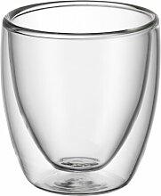 2-tlg. Espressotassen Glas Set doppelwandig Kult