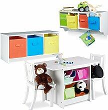 2 tlg. Kindermöbel Set ALBUS, Wandregal für