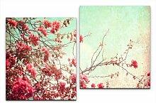 2-tlg. Leinwandbilder-Set Vintage Bilder East