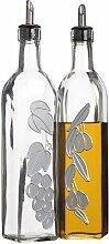 2-tlg. Öl- und Essigflaschen-Set Italian