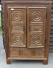 2-Tür Kleiderschrank im Louis XVIII Stil aus