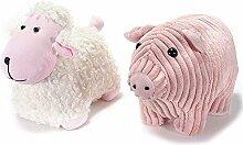 2Türstopper aus Stoff gepolstert, Schaf und Schwein