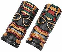 2 Wandmasken 30cm Wandmaske Tiki Maske Hawaii
