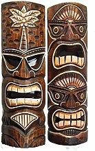 2 Wandmasken 50cm im Tiki Style Hawaii Maske