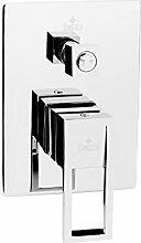 2-Wege Unterputz Armatur mit Umsteller für Dusche und Badewanne Unterputzarmatur Badarmatur Wandarmatur