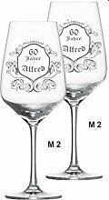 2 * Weinglas, Rotwein Schott-Zwiesel mit Wunschgravur
