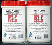 2 X 1 Liter SHB Swiss Water Clear Filtergranulat 1000 ml Nachfüllgranulat für Wasserfilter, Luftbefeuchter, Ultraschallvernebler, alle wiederbefüllbaren Classic-Patronen (In-Ta-Fil , Laurastar)