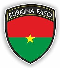 2x 15cm/150mm Burkina Faso Flagge Design