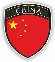 2x 15cm/150mm China Flagge Design Vinyl