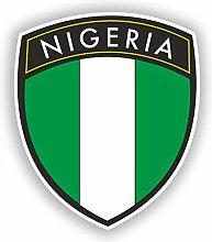 2x 15cm/150mm Nigeria Flagge Design Vinyl