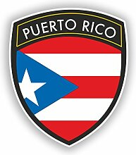 2x 15cm/150mm Puerto Rico Flagge Design