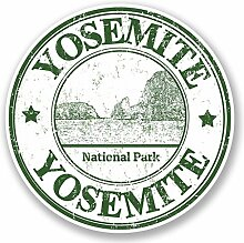 2 x 15cm/150mm Yosemite USA Vinyl SELBSTKLEBENDE