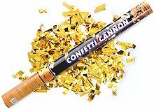 2 X 2 x goldener Konfetti Regen 60 cm lang Kanone Shooter Konfettibome Partypopper Hochzei