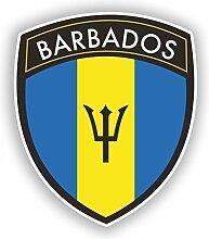 2x 20cm/Verlaufsfilter Barbados Flagge Design