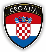 2x 20cm/Verlaufsfilter Kroatien Flagge Design