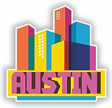 2 x 25 cm / 250 mm Austin Skyline Vinyl-Aufkleber