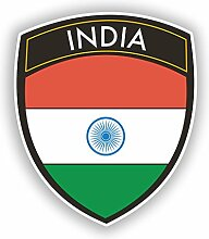 2x 25cm/250mm Indien Flagge Design Vinyl Aufkleber Reise Gepäck # Kolibris