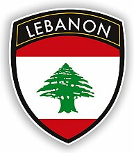 2x 25cm/250mm Libanon Flagge Design Vinyl Aufkleber Reise Gepäck # 10665