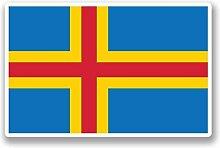 2 x 25cm/250mm Aland Aland Finnland Flagge Fenster kleben Aufkleber Auto Van Wohnmobil Glas #9732