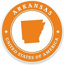 2 x 25cm/250mm Arkansas USA Fenster kleben Aufkleber Auto Van Wohnmobil Glas #9370