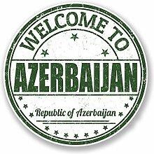 2 x 25cm/250mm Aserbaidschan Fenster kleben Aufkleber Auto Van Wohnmobil Glas #6754