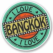 2 x 25cm/250mm Bangkok Thailand Fenster kleben Aufkleber Auto Van Wohnmobil Glas #4281