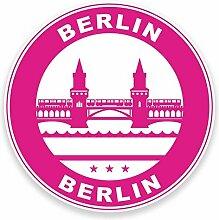 2 x 25cm/250mm Berlin Deutschland Fenster kleben
